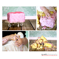 Cake Smash Portraits by Linda Wild, RG Wild Photography | PERTH